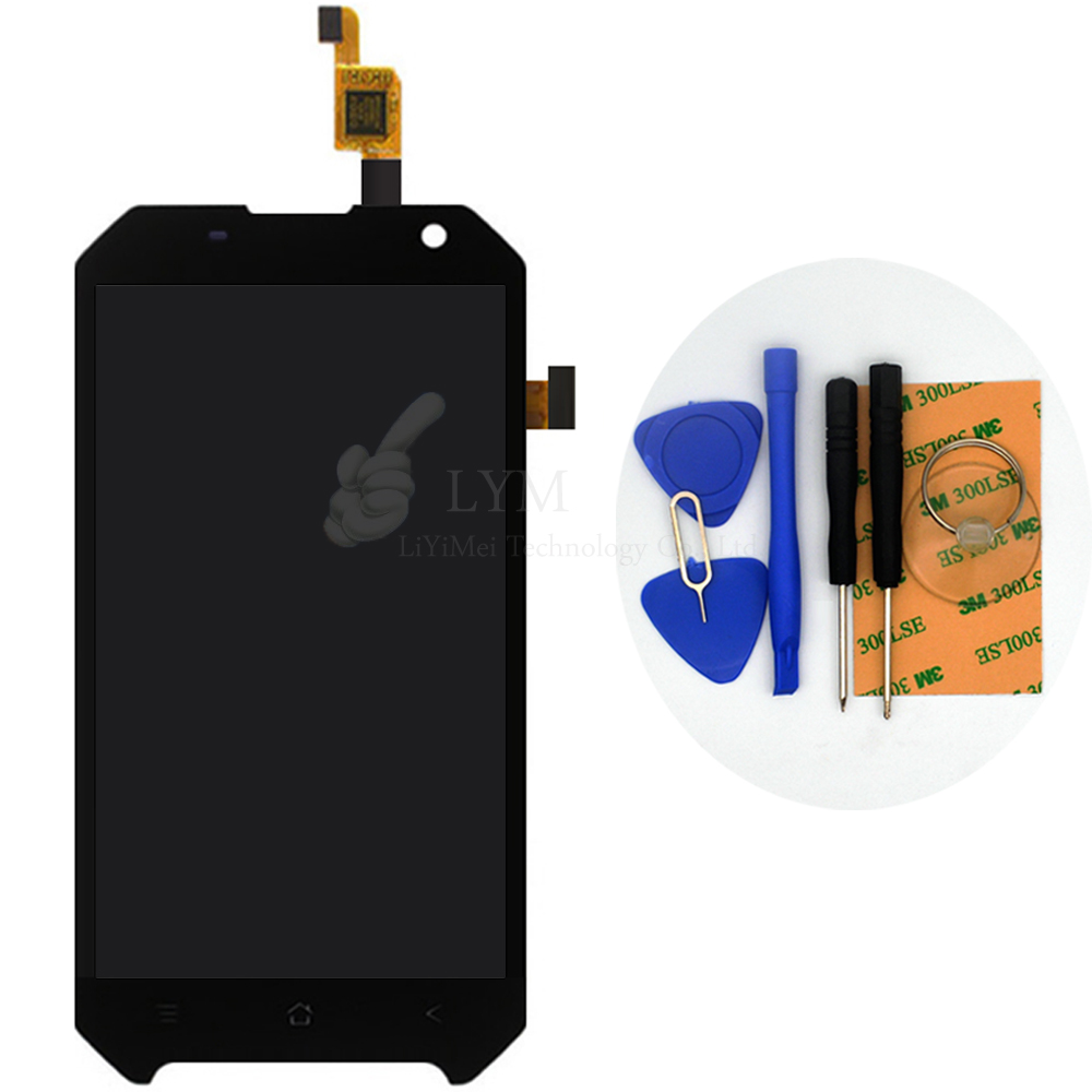 4 7 Black LCD TP for Blackview BV6000 LCD Display Touch Screen Digitizer Assembly Smartphone Replace