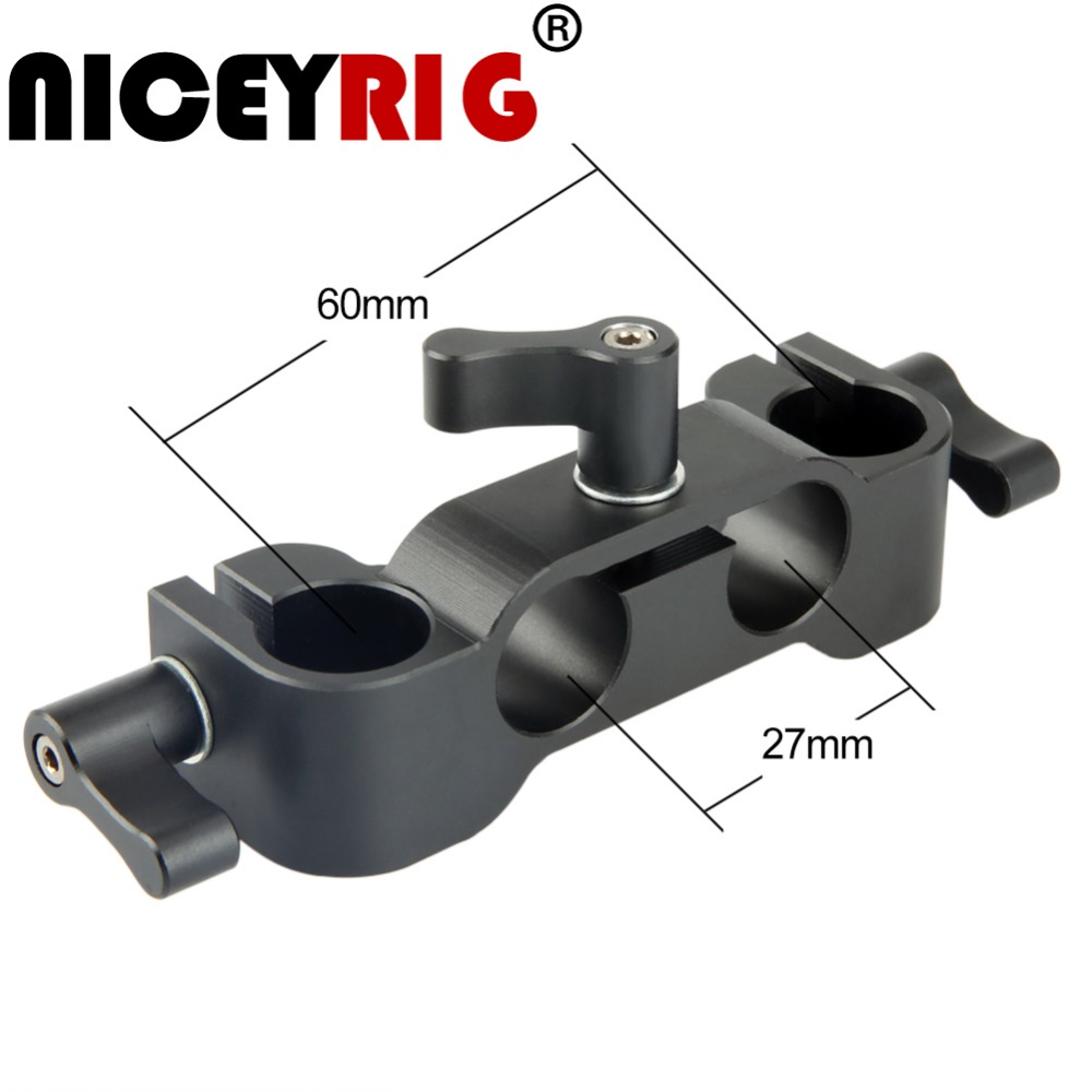 Niceyrig 15mm Rod Clamp EVF Clamp For Camera Cage Rig Minitor LED Light