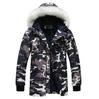 New 2016 Camouflage Down Parkas Jackets Men S Parka Hooded Coat Male Fur Collar Parkas Winter