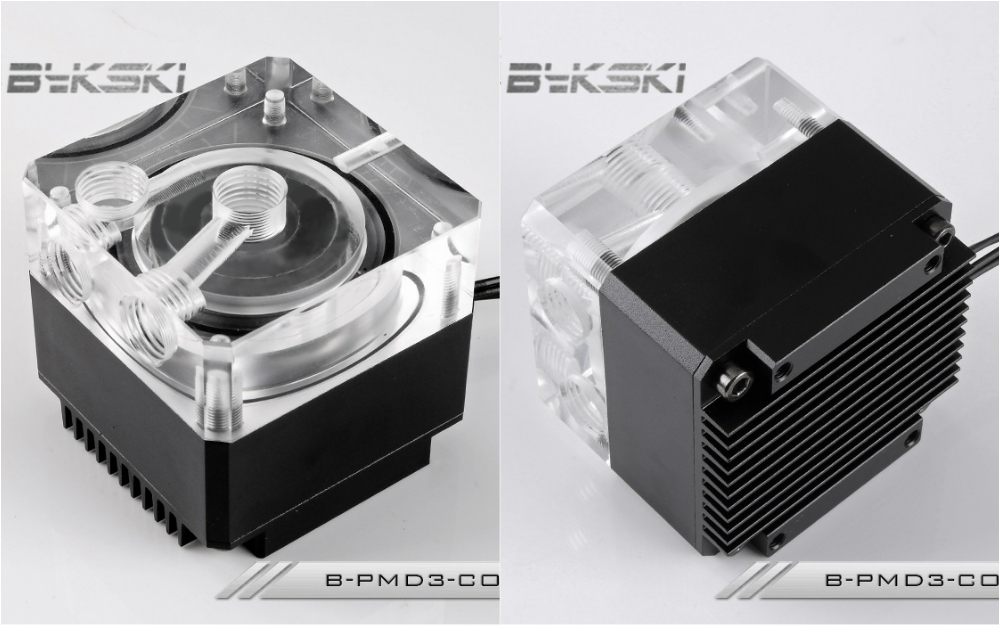Bykski B-PMD3-COV Water Cooling Pump with Heatsink 600L DDC Black bykski b pump pav water cooling pump with heatsink 300l