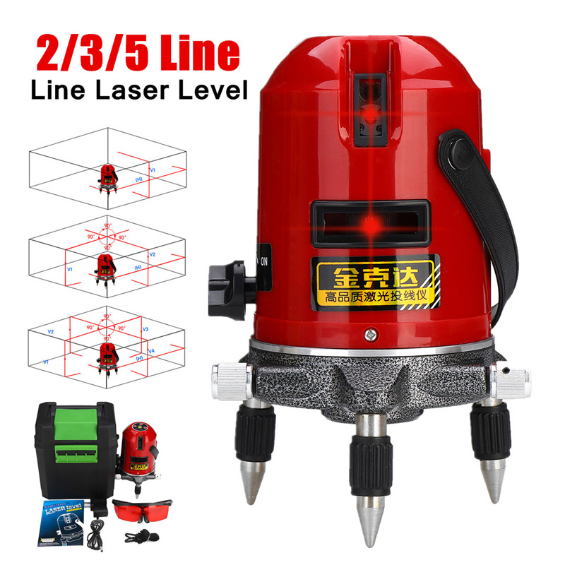 5/3/2 Line Laser Level Professional Self-leveling Laser 360 Rotating Thickened Metal Base Plumb-point Function Accurate Position high quality southern laser cast line instrument marking device 4lines ml313 the laser level