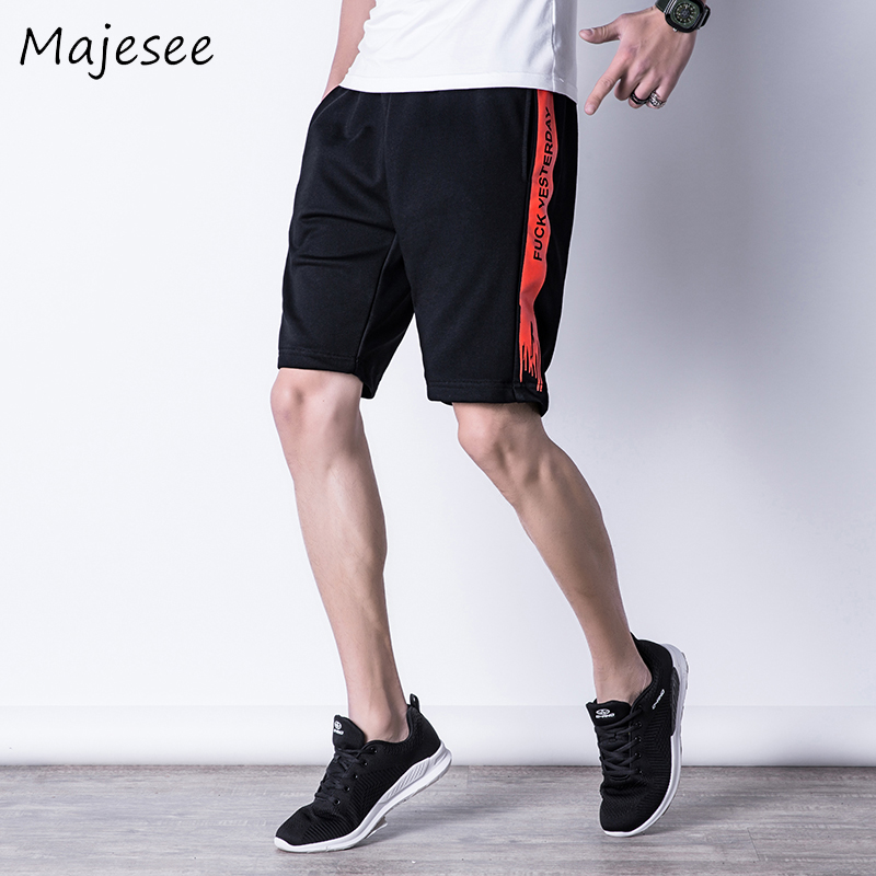Summer Men Casual Shorts Mens Short Striped Thin Breathable Male Korean Style Students Loose Fashion Elastic Waist Pocket Trendy