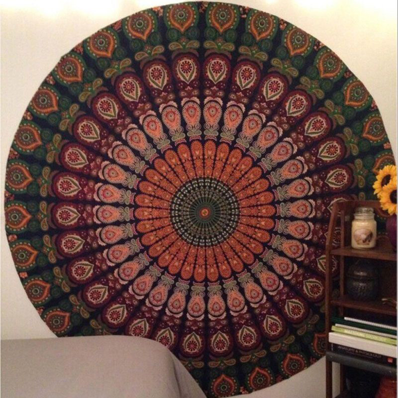 Indian Tapestry Wall Hanging aliexpress : buy hot!! indian round mandala tapestry wall