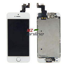 100% OEM for iphone 5s lcd display and touch screen digitizer assembly +home button and front camera with Free Shipping