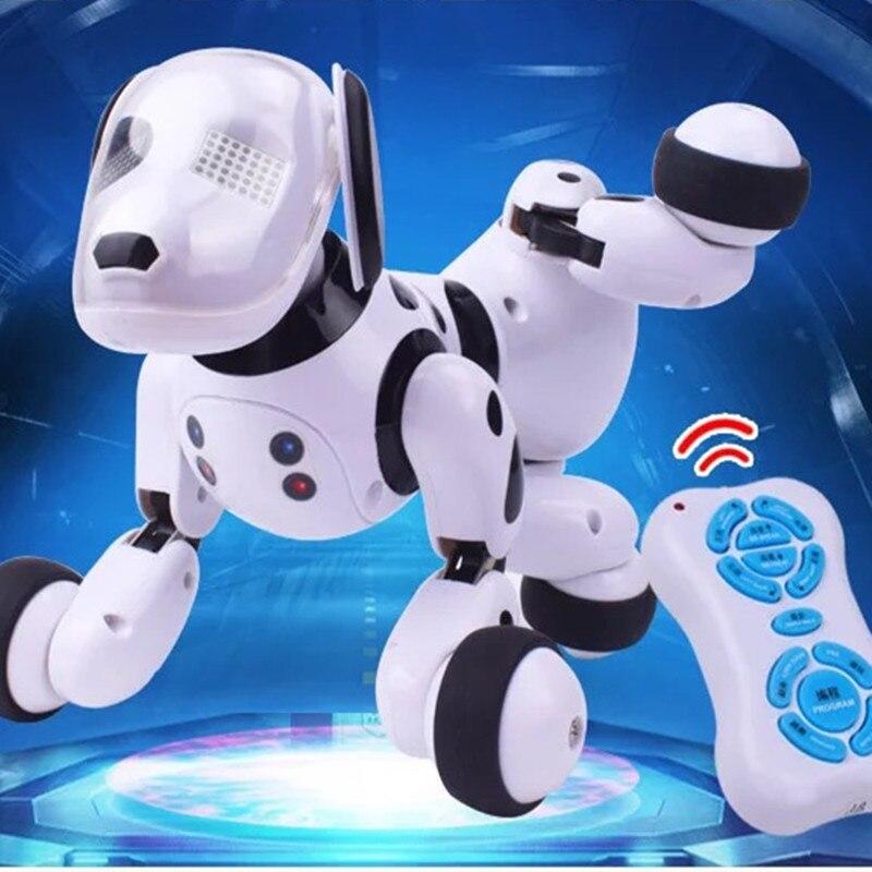 Nouveau 2.4G sans fil intelligent télécommande Robot chien électronique Animal de compagnie enfants jouets éducatifs enfants jouets danse Robot chien 9007A