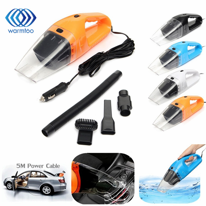 DC 12V 120W Portable  Super Suction Handheld Vacuum Dirt Cleaner Wet & Dry Vacuum Cleaner For Vehicle Car Handheld Home Office dc 12v 120w portable super suction handheld vacuum dirt cleaner wet