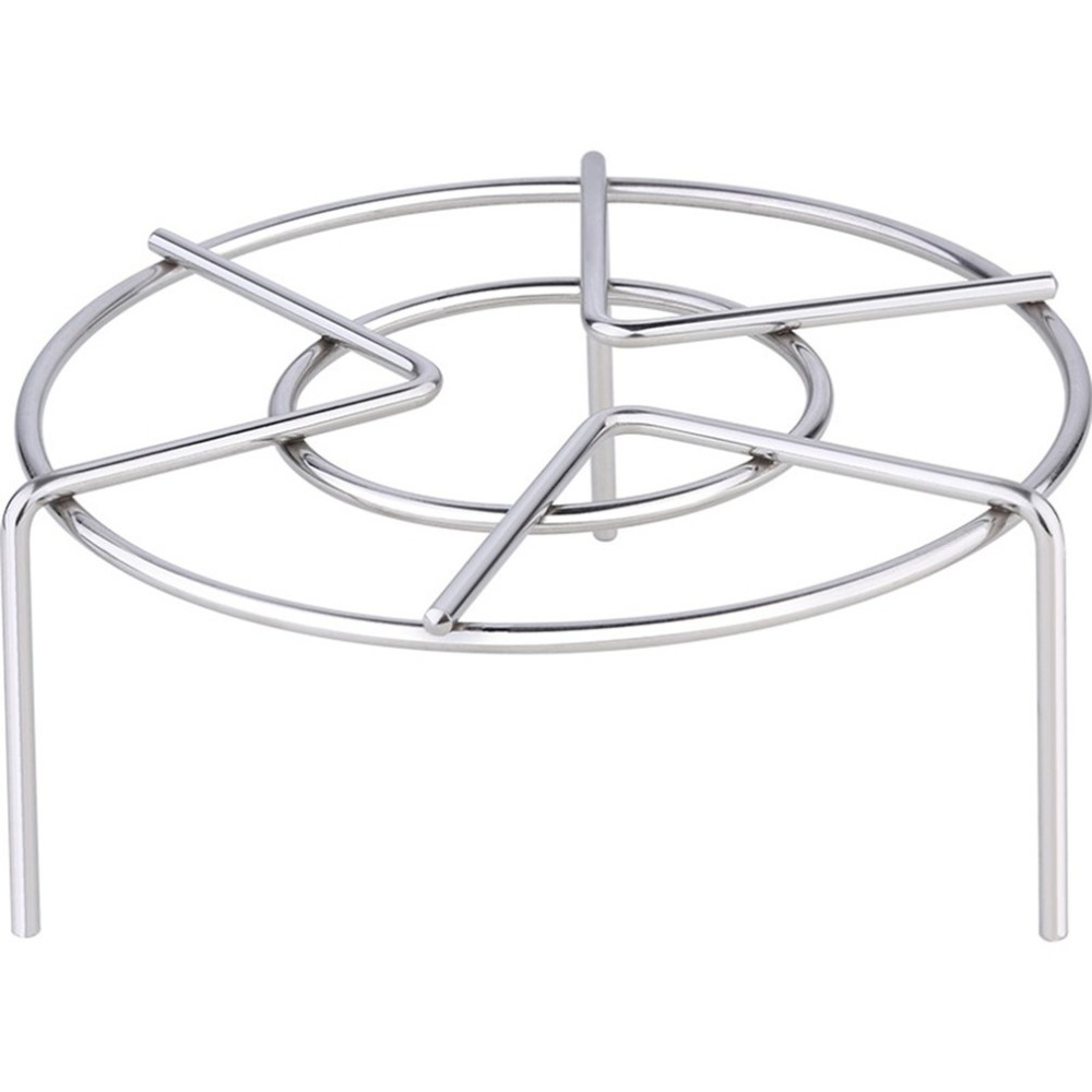Round Stainless Steel Steam Rack Trivet Kitchen Cooking Tool FREE SHIPPING