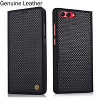 2pcs Genuine Leather Flip Case For Huawei Honor V10 BKL AL20 Case Back Case Cover For