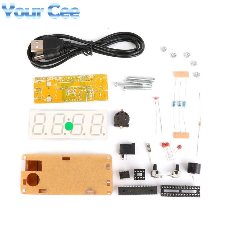 5421685dbbb6 DIY Kit LED Electronic Clock Display Module Microcontroller 4 Bits 0.8 inch  Digital Tube Clock Diy
