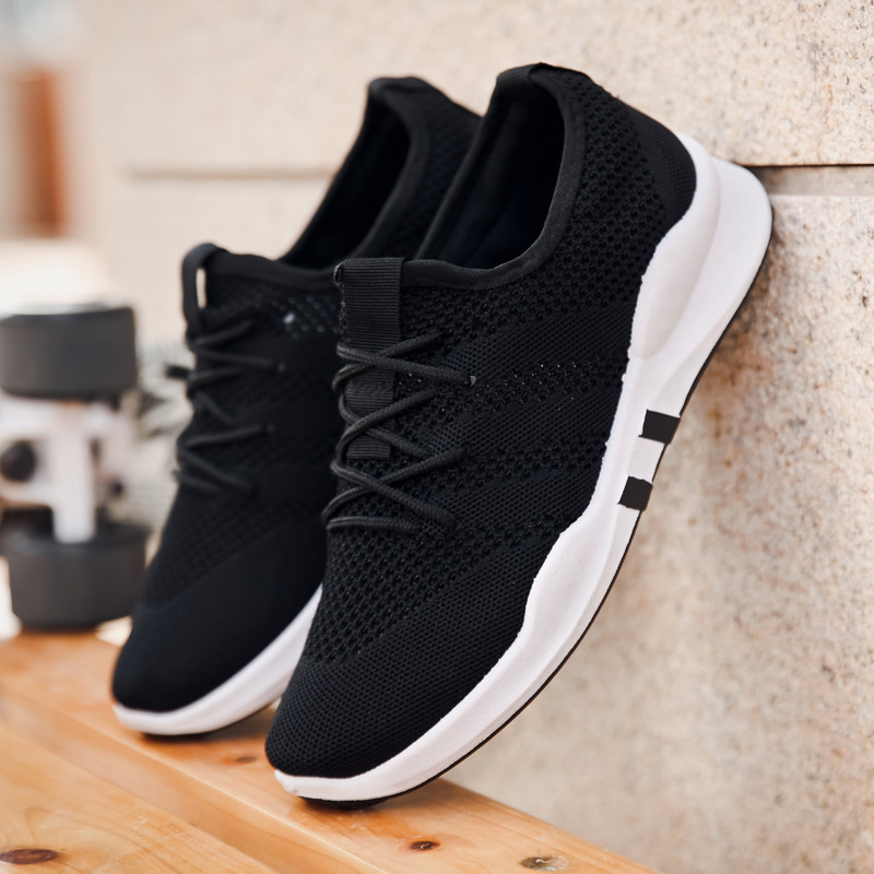 Hot New 2020 Men Women Flying Woven Sports Shoes Lightweight Breathable Wild Casual Running Shoes Flat Sneakers Student Sneakers