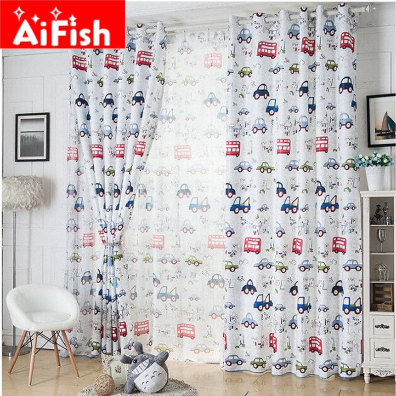 cartoon car pattern shade cloth home design children boy. Black Bedroom Furniture Sets. Home Design Ideas