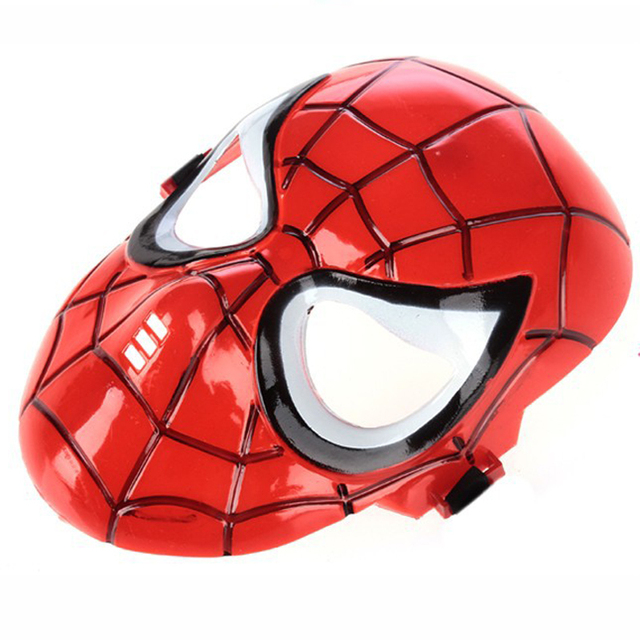 Halloween Hoilday Cosplay Mask Spider Man Mask Children Festival Iron Man mask for Masquerade Party Red Spiderman Spandex Mask