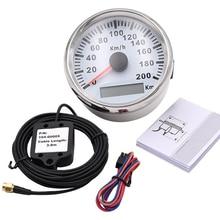 85mm Car Digital GPS Speedometer 200 km/h Red LED Speed Gauge for bmw e46 Honda Motorcycle Car Boat IP67 Waterproof tachometer цена
