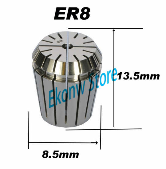 Free Shipping 1PCS 1-5mm ER ER8 Collet Chuck for Spindle Motor Engraving/Grinding/Milling/Boring/Drilling/Tapping