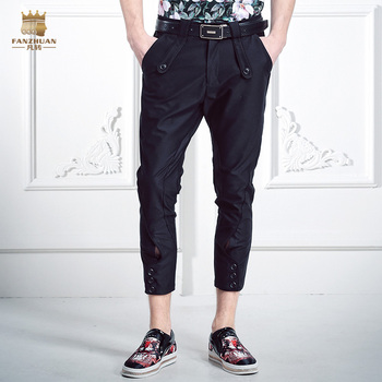 FanZhuan Free Shipping fashion casual 2016 Men's New Europe Summer Palace slim men button pants trousers seven 618025 on sale