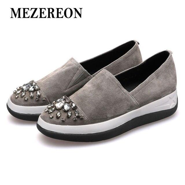 MEZEREON zapatos mujeres mocasines zapatos MEZEREON planos de cuero genuino mujer e47fd3