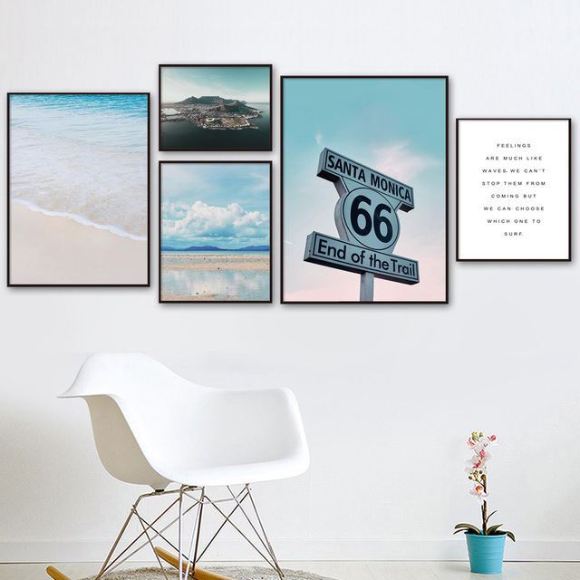 Us 3 08 44 Off Street Sign Cloud Beach Sea Island Quotes Nordic Posters And Prints Wall Art Canvas Painting Wall Pictures For Living Room Decor In