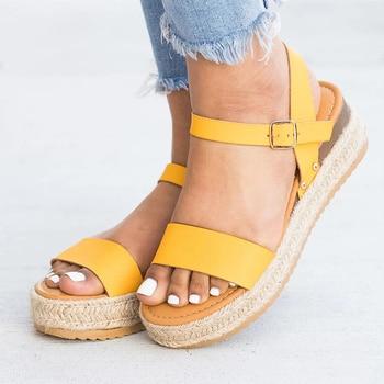 Women Sandals 2019 Wedges Shoes For Women High Heels Sandals Chaussures Femme Patform Sandals Summer Shoes Female Flip Flop Plus