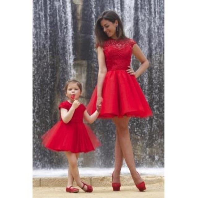 184bf7cf06edf Llegó El nuevo Vestido Rojo Corto Vestido Con LaceTulle vestido de vestidos  de fiesta Encima de