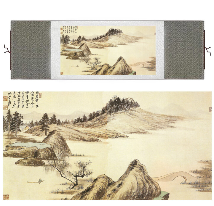 Mountain and River art painting Chinese traditional landscape painting Chinese wash picture