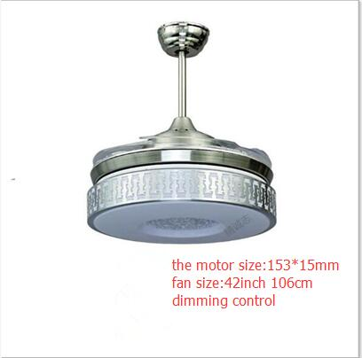 JCZ 42 pouces 108 cm gradation à distance-contrôle salon plafond ventilateur lampe salle à manger ventilateur 110-240 v