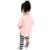 2017 nueva otoño niños lindos Princesa boutique trajes sistemas de la ropa para los niños de la muchacha del algodón lindo conejo suéter de la raya del pantalón traje