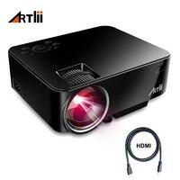 Artlii кинопроектор домашний кинотеатр видео проектор Поддержка 1080 P ЖК дисплей для просмотра спортивных спичек или фильмов для семьи или вече
