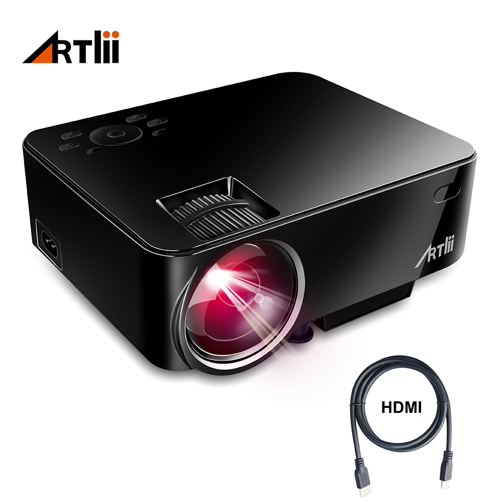 Artlii Movie Projector Home Theater Video Projector Support 1080P LCD To Watch Sports Matches or Movie For Family or Party цены