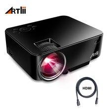 Artlii проектор дома Театр видео проектор Поддержка 1080 P ЖК дисплей смотреть спортивные спички или кино для семья Вечерние