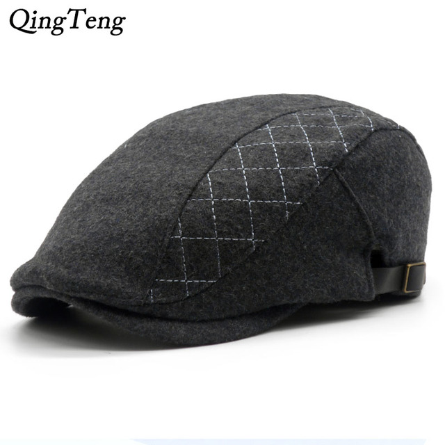 Autumn And Winter Fashion Cotton   Wool Black Beanies Beret Adjustable  French Men Boina Vintage Artist Hat Cap Brand Flat Caps 32a2c0947e8