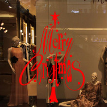 Free Shipping Removable Festive Merry Christmas Wall Sticker Glass Stickers