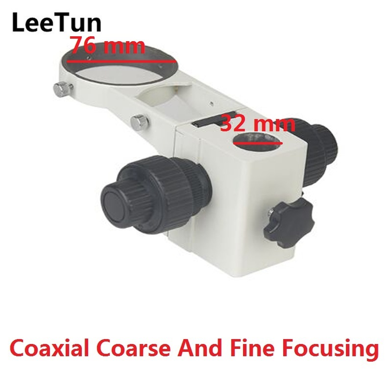 LeeTun Stereo Microscope Adjustment Coaxial Coarse and Fine Focusing Arm Holder E Arm Head Holder Ring Arbor Stand Bracket factory direct sale mini industry microscope stand lcd digital microscope camera arm holder size 40mm
