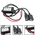 Автомобильный Адаптер Питания Конвертер Инвертер DC12V к 5 В 3А Dual USB Бак Модуль Step-down Модуль Навигации