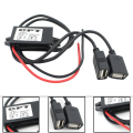 Car Power Adapter Converter Power Inverter DC12V to 5V 3A Dual USB Buck Module Step-down Module Navigation