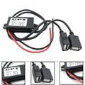 Car Power Adapter Converter Power Inverter DC12V to 5V 3A Dual USB Buck Module Step-down Module Navigation