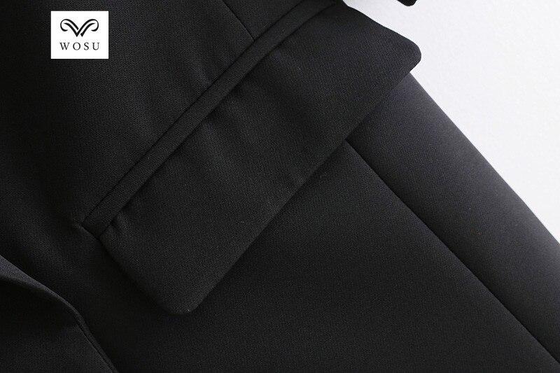 WOSU Women Office Lady Notched Collar Suit short coat LAPEL SUIT JACKET Temperament OL style-BB056