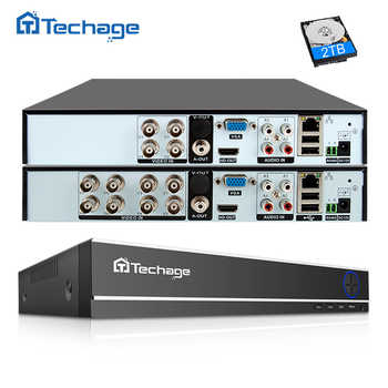 Techage H.264 4CH 8CH 1080P HDMI AHD CCTV DVR NVR HVR 1080N P2P Cloud Security Digital Video Recorder for Analog AHD IP Camera - DISCOUNT ITEM  50 OFF Security & Protection