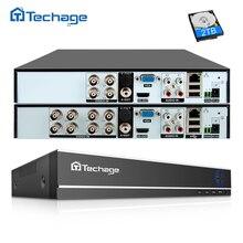 Techage H.264 4CH 8CH 1080P HDMI AHD CCTV DVR NVR HVR 1080N P2P chmura bezpieczeństwa cyfrowy rejestrator wideo dla analogowej kamery AHD IP