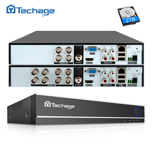 Techage H.264 4CH 8CH 1080P HDMI AHD CCTV DVR NVR HVR 1080N P2P سحابة الأمن مسجل فيديو رقمي للكاميرا التناظرية AHD IP