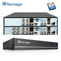 Techage H.264 4CH 8CH 1080P HDMI AHD CCTV DVR NVR HVR 1080N P2P Cloud Security Digital Video Recorder for Analog AHD IP Camera