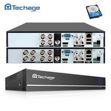 Techage H.264 4CH 8CH 1080P Hdmi Ahd Cctv Dvr Nvr Hvr 1080N P2P Cloud Security Digital Video Recorder Voor analoge Ahd Ip Camera