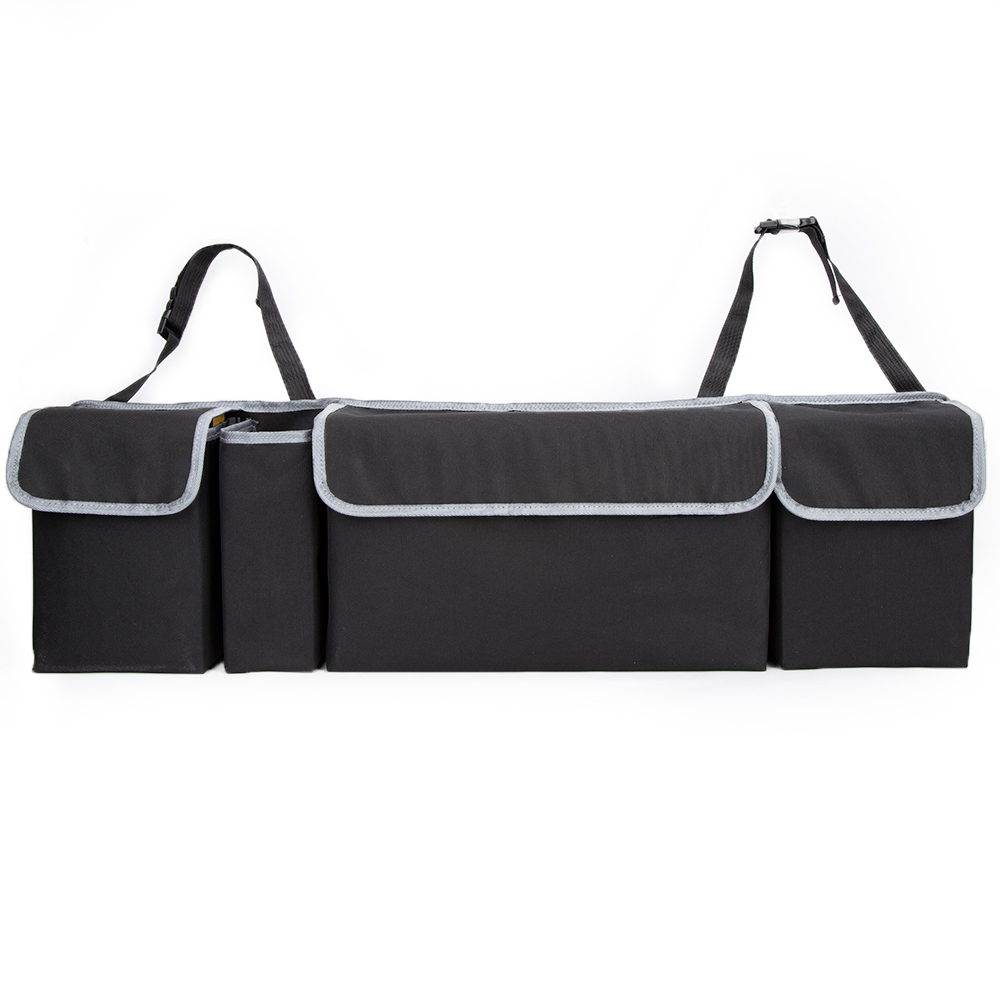 Image 3 - KAWOSEN Car Trunk Organizer Adjustable Backseat Storage Bag High Capacity Multi use Oxford Automobile Seat Back Organizer CTOB02-in Rear Racks & Accessories from Automobiles & Motorcycles