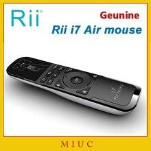 Genuino Mini Fly Air Ratón de Rii i7 2.4G Remoto Inalámbrico Construido En 6 Ejes Combo para PC/Android Tv Box/X360/Sensor de Movimiento de PS3 Gamer