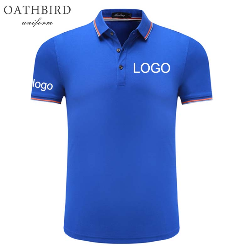 Custom Embroidered Polo Shirt With Your Own Text Design Customized High Quality Uniform Polo For Company Logo Work Wear
