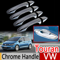 For VW Touran 2016 Chrome Handle Covers Trim Set of 4P Volkswagen New Touran MK2 2017 2018 Car Accessories Stickers Car Styling
