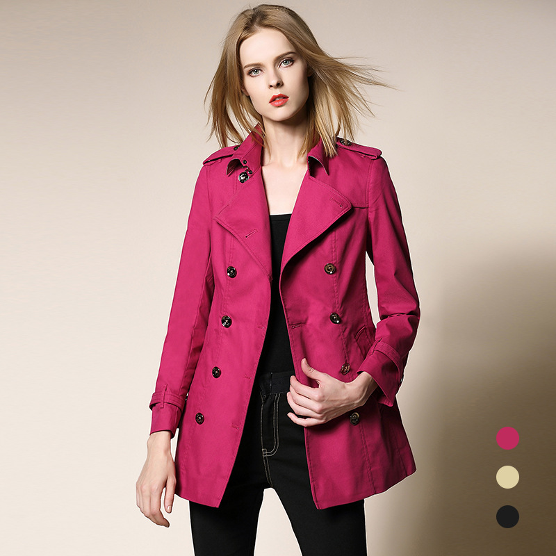 1bcf504574ba0 Trench Coat 2017 Fall Fashion Women s Double Breasted Turn down Slim Cloak  Plus Size Runway Khaki Outwear Windbreakers Coats-in Trench from Women s  Clothing ...