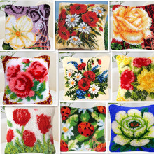 cross stitch pillow mat like flower crafts tapestry 40x40cm, hook embroidery sewing cushion