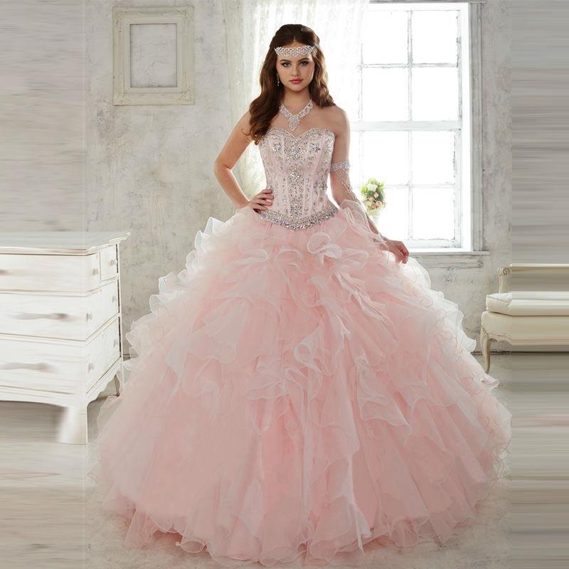 Increíble vestido de Bola Rosa Vestidos de Quinceañera Vestidos De ...