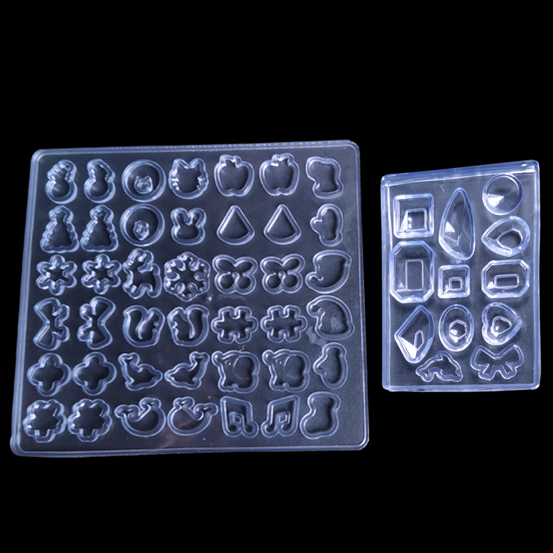 QIAOQIAO DIY 2PCS/LOT DIY Silicone Earing Ear Stud Mold Making Jewelry Resin Casting Mould Craft Earing Moulds