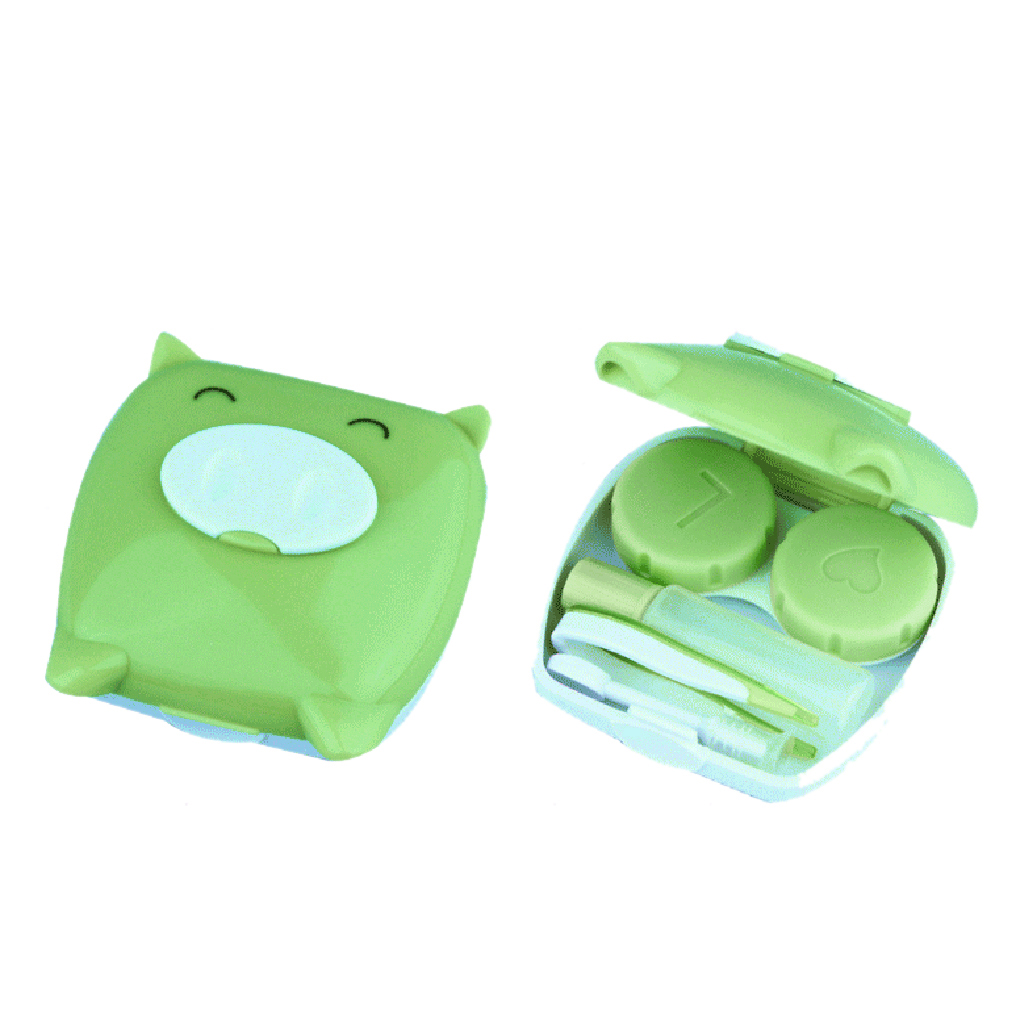 2019 Mini Leuke Unisex Varken Cartoon Contact Lens Case Metgezel Doos Contactlenzen Box Om Digest Greasy Food Te Helpen